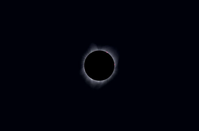Totality I with Prominences