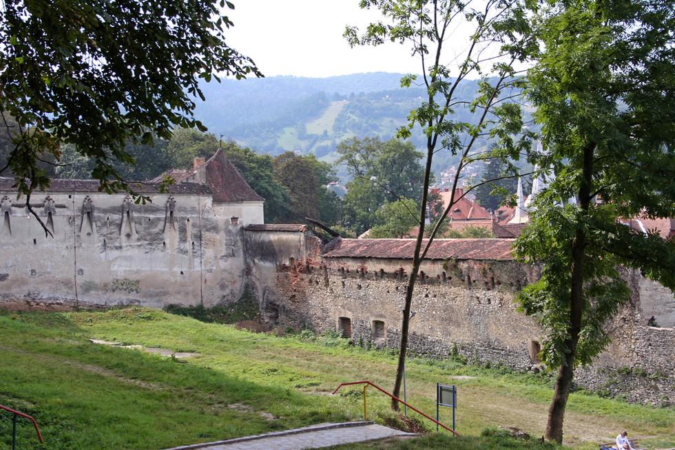 Weaver's Bastion and Medieval (15th century) city walls, Braşov