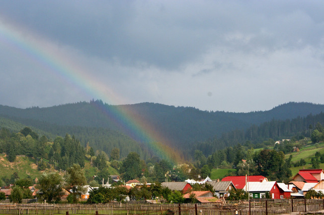 End of the rainbow, Southern Bucovina