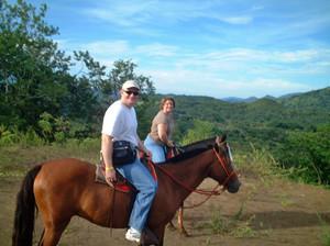 Riding through the hills above Tamarindo