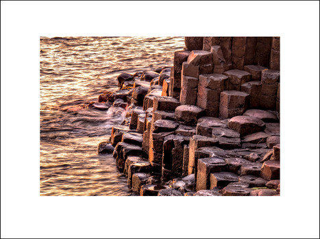Sunset at Giant's Causeway $20
