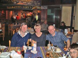 Family Dinner in Durban - Gavin with Graham & girlfriend