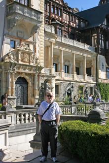 Outside Peleş Castle, Sinaia
