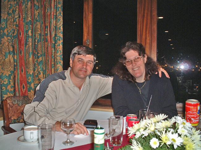 Robert and Carol at the Durban Country Club