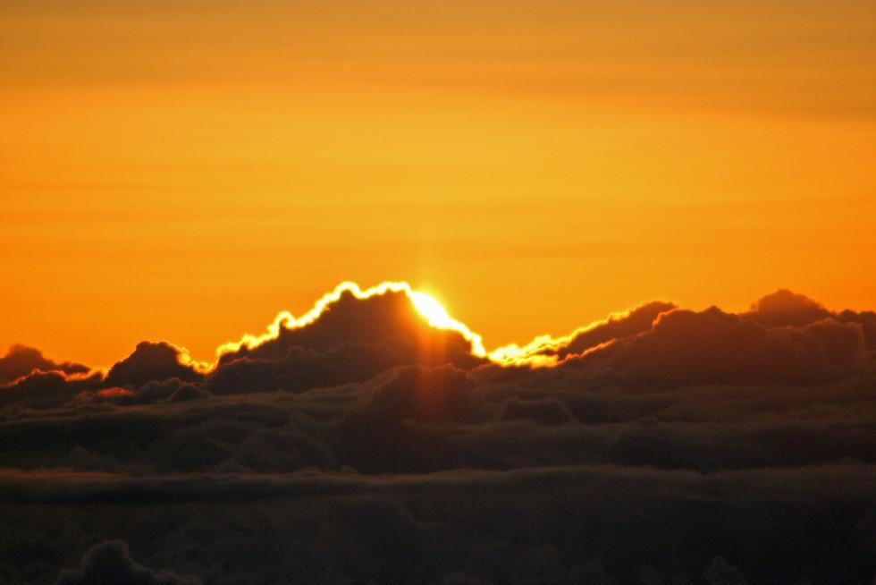 Sunrise at the summit of Mt. Haleakala Crater, Maui