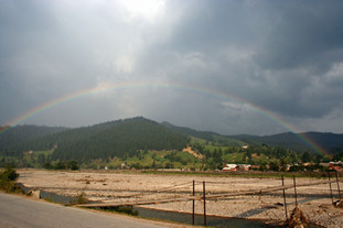 End to end rainbow, Southern Bucovina