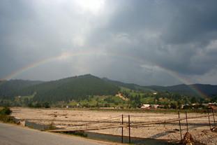 End to end rainbow, Southern Bucovina