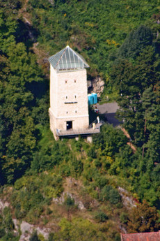 Black Tower, Braşov from atop Mt. Tâmpa