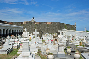 Cemetery in front of San Cristobal, Puerto Rico