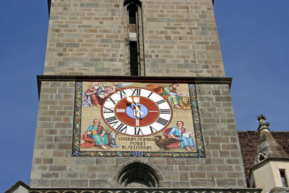 Clock on Black Church, Braşov