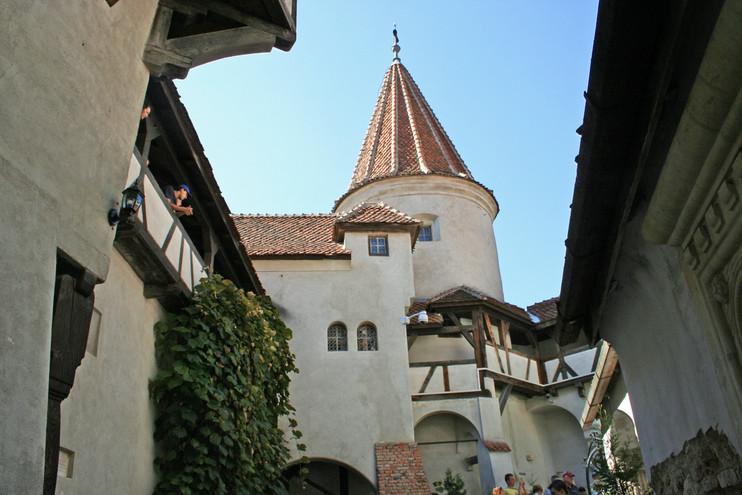 Courtyard at Bran Castle
