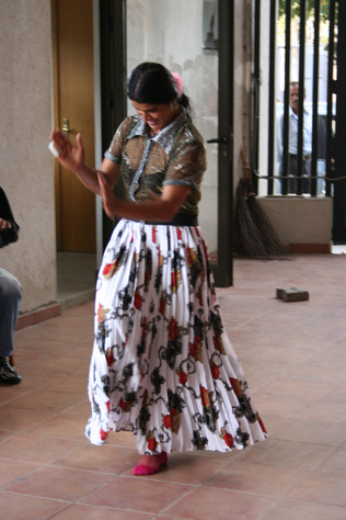 Roma woman dancing