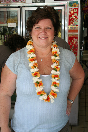 Fresh Lei purchased in China Town, Honolulu