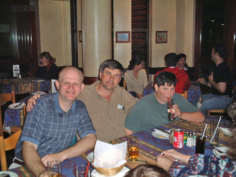 Family Dinner in Durban - Gavin with Robert and Ross