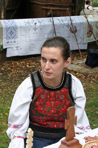 Embroidered sheepskin vest