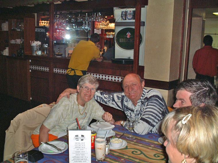 Family dinner in Durban - Gavin's parents