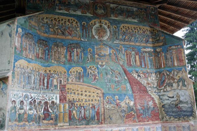 16th Century Frescoes Voroneţ Monastery, Bucovina