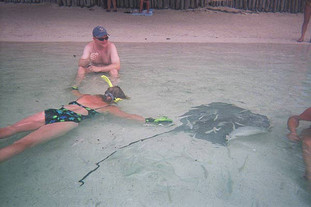 Playing with the stingrays