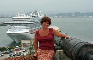 The Crown Princess docked in San Juan, Puerto Rico