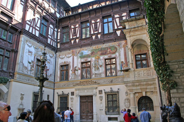 Courtyard at Peleş Castle, Sinaia