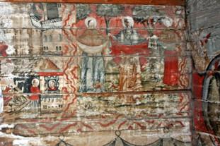 Wooden church frescos