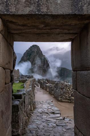 Huayna Picchu Through an Inca Doorway