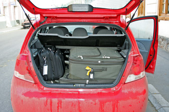 Our rental car barely held our luggage (2 cases & a laptap bag)