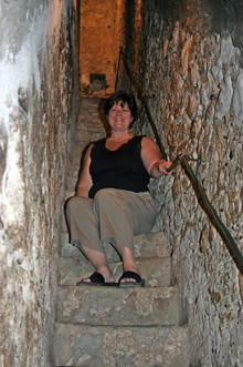 Secret Stairs at Bran Castle