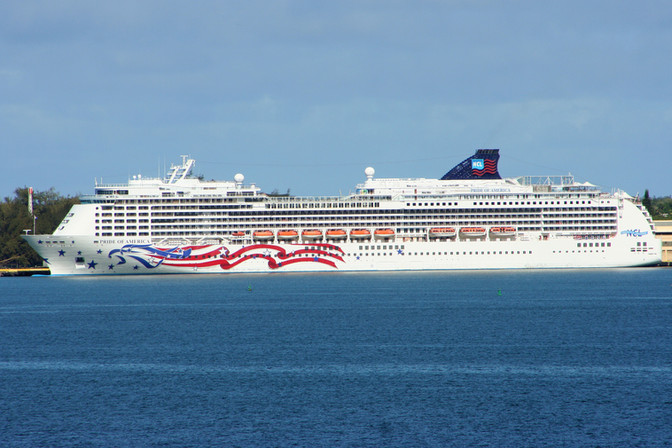 "Our ""floating hotel"" the Pride of America"