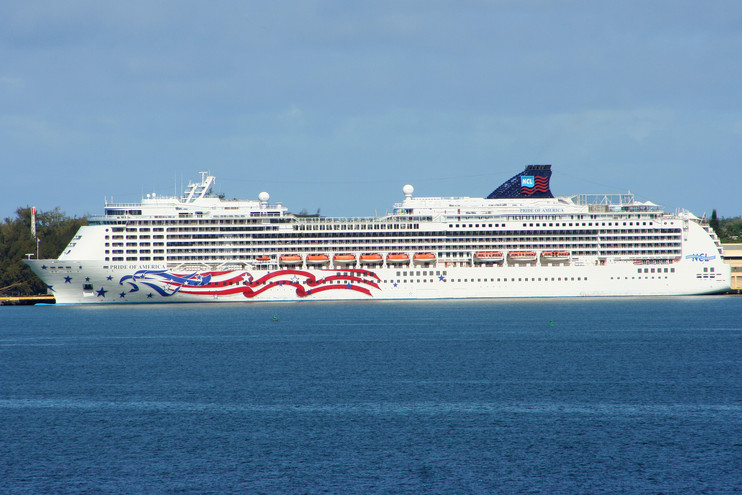 """Our """"floating hotel"""" the Pride of America"""