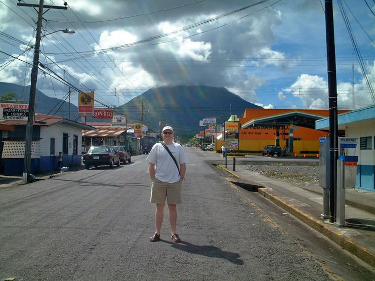 Gavin in La Fortuna at the base of Arenal Volcano