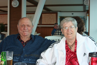 Tony & Hazel on the deck of the Crown Princess