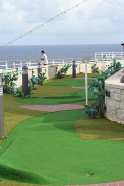 Put-Put Course on the Crown Princess