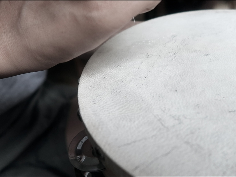 Embroidered Tambourines