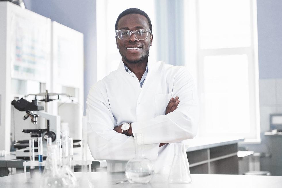 scientist-works-with-microscope-laborato
