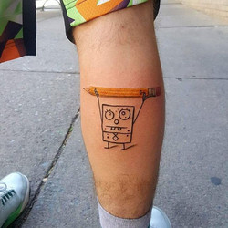 Because Doodle Bob makes for the very best first tattoo for this client!!! 😍 By Joshua Kunkel _jfdk
