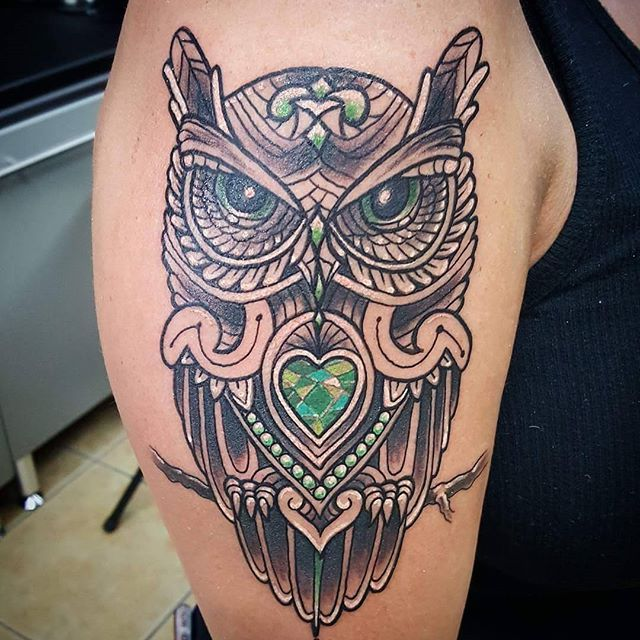 Joshua Kunkel _jfdk23 loved adding all the green dimensions of color to this amazing owl he recently