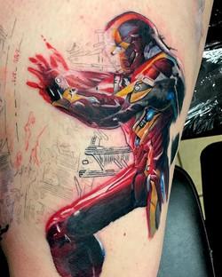 Progress on the Captain America piece by Ikonic artist _shawn_elliott_isa #KBMWCT #keithbmachinework