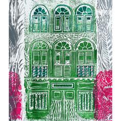 Shophouse block print 1