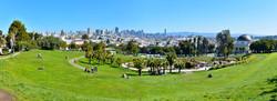 City panorama view with skyline