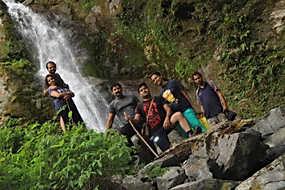 Waterfall Near Nainital Campsite (Pangot)