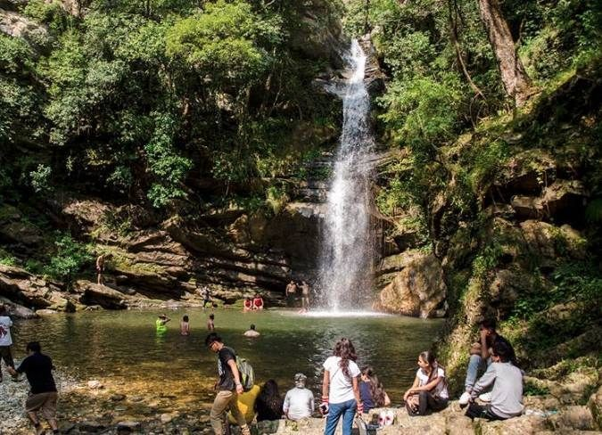 Bhalu Gaad Waterfall Mukteshwar Camping