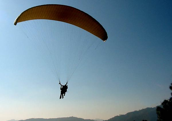 Paragliding at Nainital Camp