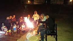 Bonfire and Music at Nainital Camp (Pangot)