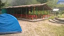 Restaurant at Camp Nainital (Pangot)