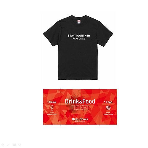 オリジナルTシャツ/営業再開時に使えるお得なチケット1枚