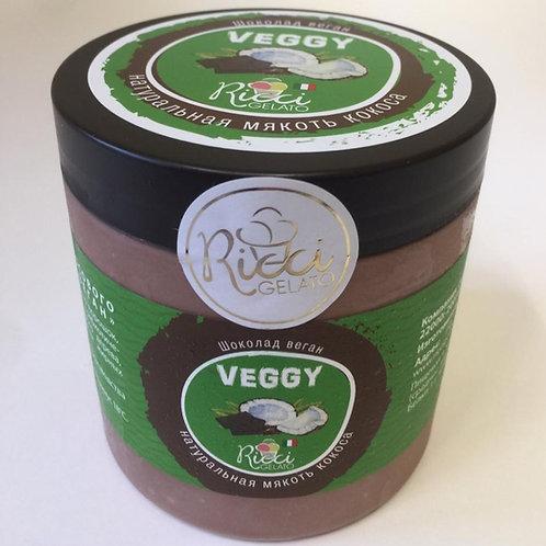 Шоколад веган с натуральной мякотью кокоса (баночка 500 мл.)