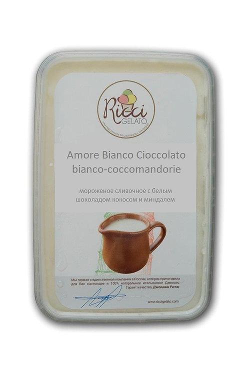 Amore Bianco Cioccolato bianco-coccomandorie (белый шоколад,кокос,миндаль,750гр)