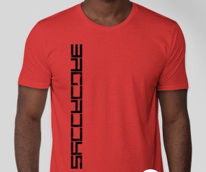 Mens Fire Red TriBlend T