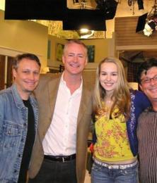 with Good Luck Charlie star Bridget Mendler and creators Phil Baker & Drew Vaupen